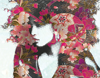 Woman with Japanese Flower Print
