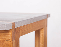 WoodConcrete Stool
