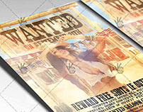 Wanted Western Party - Premium Flyer PSD Template