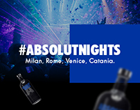 Absolut Nights Italy - Digital content