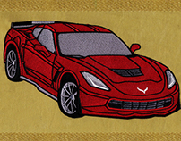 CLASSICALLY LUXURIOUS CAR MACHINE EMBROIDERY DESIGN