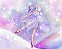Winter Lavender Ballerina