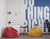 IT Office with motivation