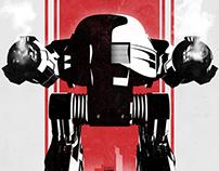 """""""Robocop"""" Inspired 13x19 Inch Print"""