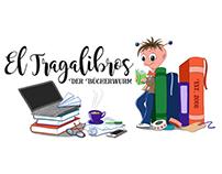 El Tragalibros - Logo Illustration