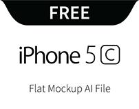 iPhone 5c Flat mockup
