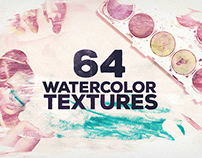 64 Watercolour Textures for Designers