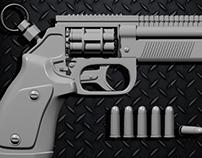 3D model of steampunk revolver