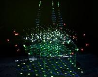 animated graphyne molecule