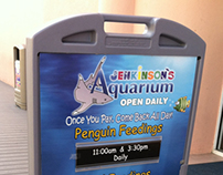 Jenkinson's Aquarium Feeding Sign