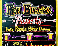 Ron Black's Beer Hall chalk boards