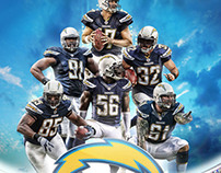 Chargers Autograph Poster