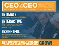 CEO2CEO Leadership Summit - Marketing Collateral