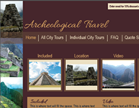 Archeological Travel Website