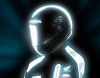 Honda welcome page (tron style)