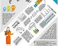 Free vector Business Women Giving presentation infograp