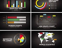 Free Vector black infographic chart template design ele