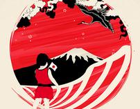 Japan Relief Print