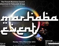 Marhaba event for the French Business Council Dubai