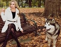 A Girl's Best Friend .... a dog - Editorial