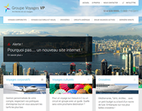 Groupe Voyages VP - Website Redesign