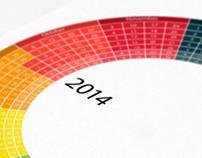 Color calendar 2014