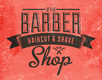 Barber Shop Vintage Label (Free Download)