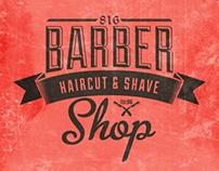 Barber Shop Vintage Label (Free Download)