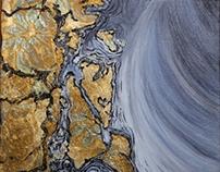 Metal Leaf Mixed Media Paintings