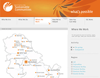 Interactive map of Serbia, 2009