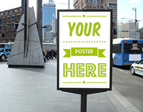 Outdoor Street Poster Mockup One