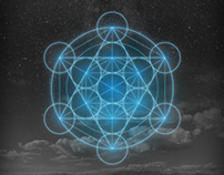 Metatron's Cube - ios7 wallpaper