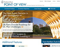 Point of View by Northern Trust - Content Site Redesign