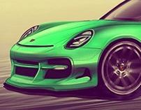 Sketch Porsche 911  Tuning