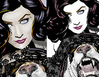 Sherilyn Fenn Drawings by K. Fairbanks