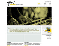 Custom Website User Interface | Vanguard Music Studio