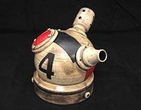Steampunk inspired utilitarian pots