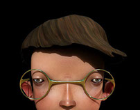3D nerd kid