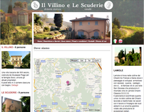 Website for vacation villa rental in Chianti, Tuscany