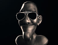 3D - Cartola Brazilian Musician. Realisation