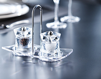"""salt&pepper mills """"Baltic"""" collection with dish -2012-"""