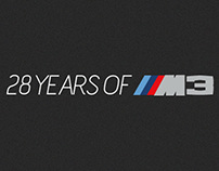 28 Years of BMW M3 Infographic