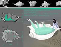 """The bath """"Seashell"""""""