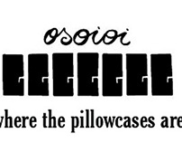 Photomontages to adveritse Osoioi, a pillowcase brand.