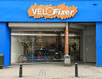 Bike repair signage (Velofixer)