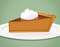 Pumpkin Pie Illustration