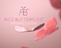 RICE BUTTERFLIES Wedding Confetti