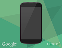 Google Nexus 4 Vector Mock-Up.
