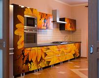 Airbrush kitchen units