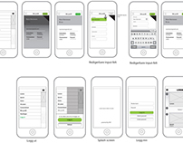 Wireframes for app
